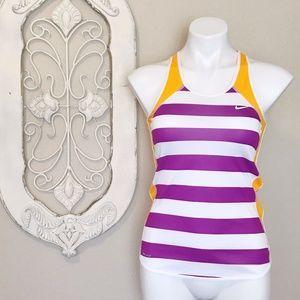 Nike   Purple Orange Stripe Running Tank Top XS